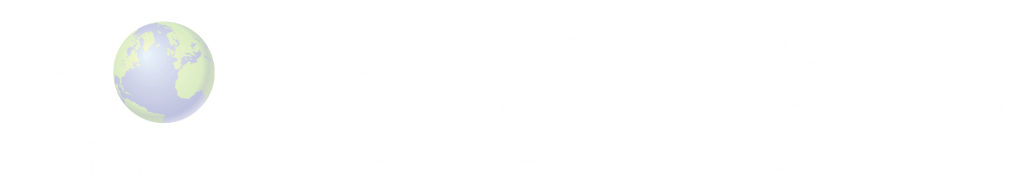 White certification logos for ICOI, ADA, and AADSM